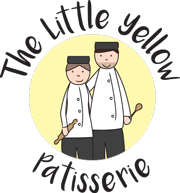 The Little Yellow Patisserie Logo (Two Bakers On a Yellow Background)