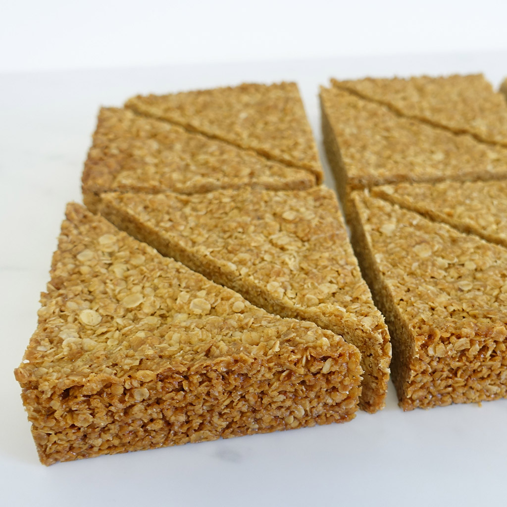 The Little Yellow Patisserie Flapjack (triangles of oat flapjack)