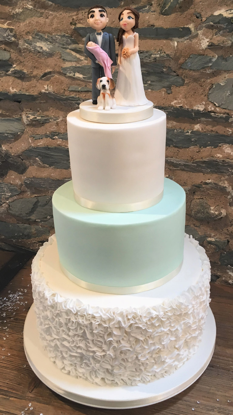 Mint and Ruffles   Wedding Cakes